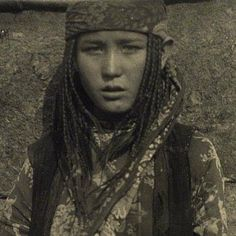 1929. Turk. Qazaq girl. Kazakh girl. Region: Central Asia