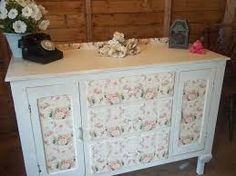 Image result for shabby chic decoupage ideas