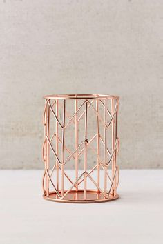 Rose Gold Pencil Cup