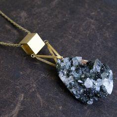 While Odin Sleeps Maximilast necklace Wire Wrapped Jewelry, Metal Jewelry, Beaded Jewelry, Jewelry Trends, Jewelry Accessories, Rock Necklace, Quartz Jewelry, Jewelery, Fashion Jewelry