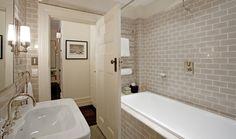 grey simple small bathroom