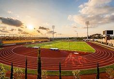 Laufbahn Türkei Sonnenuntergang Stadion Kunstrasen Turf Sports Surface
