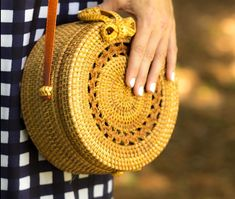 Turning Heads Linkup - Gingham Print Dress, Straw Bag and Floral Statement Earrings