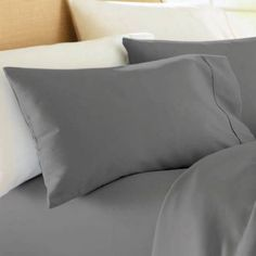 Better Homes and Gardens 300 Thread Count Wrinkle Free Pillowcase Set, Gray