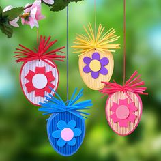 Fun easter crafts for kids Hoppy Easter, Easter Bunny, Easter Eggs, Diy And Crafts, Paper Crafts, Diy Ostern, Christmas Crafts, Christmas Ornaments, Easter Printables