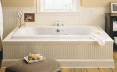 This is the tub we ended up getting. It was our second choice b/c the corner tub wouldn't fit up the steps!