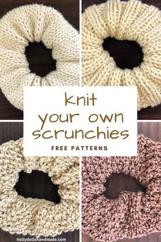 Knit all the Scrunchies! Knit all the Scrunchies!,Knitting & other Crafts Related Simple And Stunning Crochet Edges Free Patterns - CrochetSchlupfblusen für Damen - CrochetPainting with Water & Cotton Balls - HAPPY TODDLER. Knitting Stitches, Knitting Patterns Free, Knitting Needles, Knit Patterns, Free Knitting, Free Pattern, Start Knitting, Loom Knitting, Knitting Machine