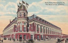 Shibe Park postcard.  Home of the Philadelphia A's and later the Phillies.