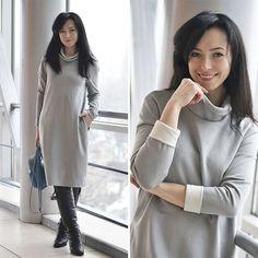 Платье кокон oversize зимний образ бренд Муслин MUSLIN