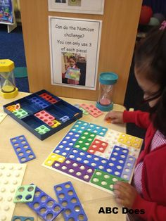 Use in sand area (can you find 2 pieces of numicon that make 10 - laminated card) individual challenge cards on continuous provision Year 1 Maths, Early Years Maths, Early Years Classroom, Early Math, Early Learning, Maths Eyfs, Eyfs Classroom, Classroom Ideas, Numicon Activities