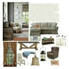 A home decor collage from July 2016 Interior Decorating, Interior Design, Country Chic, Interiors, Polyvore, Home Decor, Women, Nest Design, Country Fashion