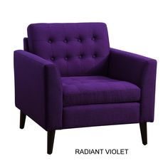 Darby Home Co Alderbrook Tufted Arm Chair Radiant Violet  | Wayfair