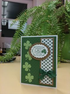 St Patricks Day Card 4 leaf clover...By:Card Cre8r