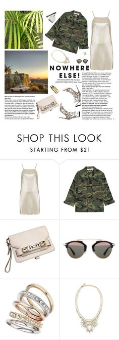 """""""No one loses anyone, because no one owns anyone. That is the true experience of freedom: having the most important thing in the world without owning it."""" by iiina ❤ liked on Polyvore featuring Oh My Love, NLST, Proenza Schouler, Christian Dior, Wallis, DANNIJO and Garance Doré"""