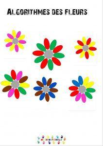 Algorithmes des fleurs – MC en maternelle Image Categories, Stage, Activities, Deco, School, Centre, Suites, Plantation, Montessori