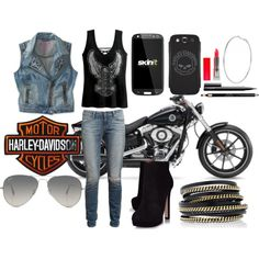"""Harley's Biker"" by gathastylik on Polyvore"