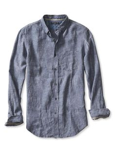 Camden-Fit Ikat Linen Shirt | Banana Republic
