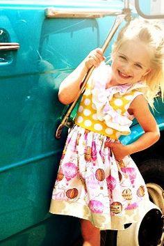 SweetHoney Up Up and Away Dress – SweetHoney Clothing Co. Size 3t runs 1 size small