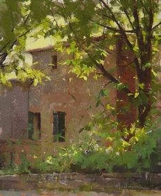 Contessa's Backyard by Marc Hanson Pastel ~ 10 x 8