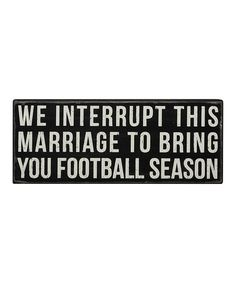 This 'Football Season' Box Sign is perfect! #zulilyfinds