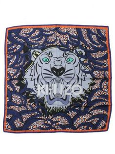 26490efd547 Kenzo-kenzo silk tiger scarf-foulard seta tigre kenzo-Kenzo Spring Summer  2014