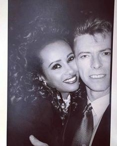 david bowie and iman Iman And David Bowie, David Bowie Born, Iman Bowie, Mr And Mrs Jones, David Jones, Sweet Love Story, Bowie Starman, The Thin White Duke, Major Tom