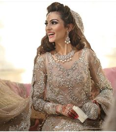 Stunning bride in Ammara khan