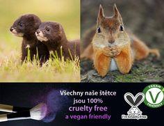 Na dekorativka.cz jedině CRUELTY FREE štětce! Vegan Friendly, Cruelty Free, Makeup, Animals, Make Up, Animales, Animaux, Animal, Beauty Makeup