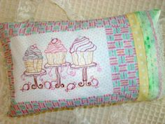 Cupcake Hand Embroidery PDF ePattern Bakeshop Sweets Candy Truffles