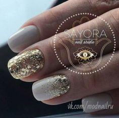 New Summer Manicure White Accent Nails 51 Ideas Xmas Nails, Christmas Nails, Gold Sparkle Nails, Pink Gold Nails, Pink Und Gold, Wedding Day Nails, Dipped Nails, Super Nails, Powder Nails