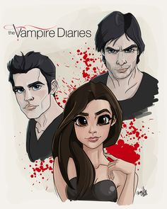 diaries vampire drawings damon fan drawing stefan characters vampires tvd salvatore cartoon amazing disney pernilleoe dk draw elena delena pencil