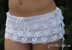 Crochet beach skirt ♥LCB-MRS♥ with diagrams.