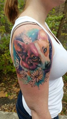 Galactic Corgi tattoo on me from David Boggins at American Crow  I love it!!