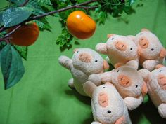"""Small pigs from """"Fricca"""" series by Matsumoto Co.,Ltd.  (This series was discontinued due to the bankruptcy of the company.)"""