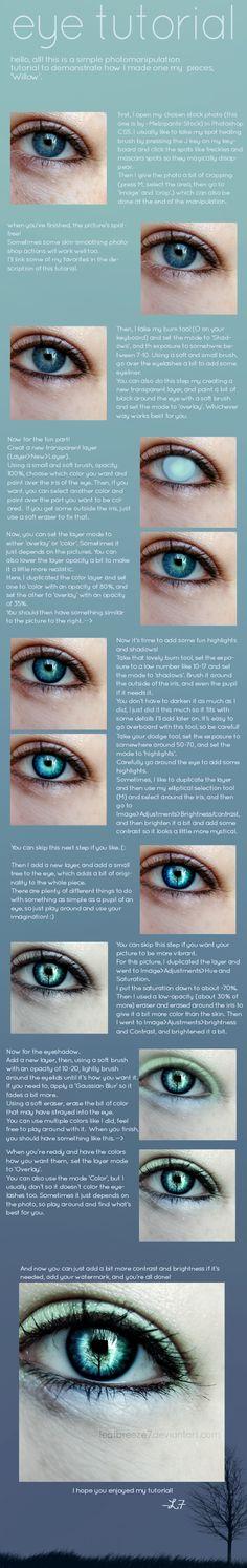 Eye Photomanipulation Tutorial by Leafbreeze7.deviantart.com on @deviantART