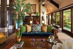 If you want to dive in this type of home interior, then take a close look at my collection of Modern Asian Home Decor Ideas That Will Amaze You. Bali Stil, Bel Air House, Interior Tropical, Balinese Decor, Indonesian Decor, Modern Asian, Post Modern, British Colonial Style, Asian Home Decor
