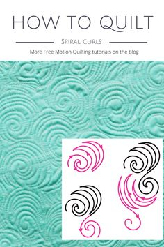 How to quilt free motion quilting spiral curls