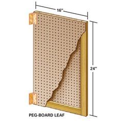 Peg-Board Leaf Option  For you Peg-Board fans, sandwich a 1x3 frame between two pieces of Peg-Board. Now your collection of hooks and holders will work with this tool storage system. Note: You can enlarge Figure C by downloading it from the Additional Information below.