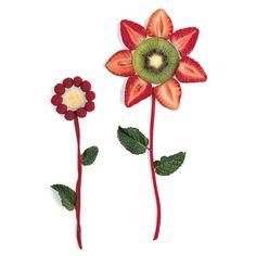 2D spring berry flowers