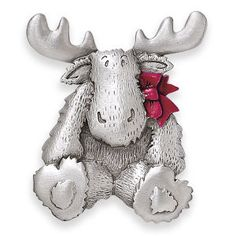 dae3de2aeaab Pewter Christmas Moose Pin - Gifts