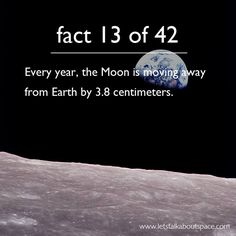 42 Facts About Space, A Homage to Douglas Adams Come back, moon. Astronomy Facts, Space And Astronomy, Hubble Space, Space Telescope, Space Shuttle, Douglas Adams, Science Facts, Fun Facts, Life Science