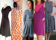 5 beautiful free womens dress patterns you'll love! Download them from your home computer!