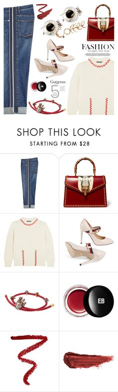 """""""My mood today"""" by jan31 ❤ liked on Polyvore featuring Alexander McQueen, Gucci, Edward Bess, NARS Cosmetics and By Terry"""
