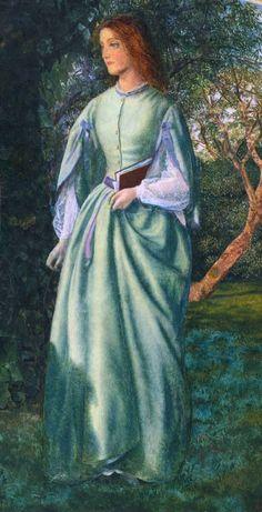 """Aurora Leigh's Dismissal of Romney (The Tryst)"" (detail), 1860, Arthur Hughes (English, 1832-1915)"