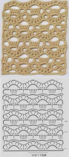 "Crochet Lace Zig Zag Stitch. """