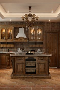 2020 China Top 10 Popular Kitchen Cabinet Designs A rustic kitchen cabinet design embodies a country Cherry Wood Kitchen Cabinets, Cherry Wood Kitchens, Kitchen Cabinets For Sale, Solid Wood Kitchens, Solid Wood Cabinets, Wooden Kitchen, Kitchen Cabinet Design, Large Cabinets, Kitchen Rustic