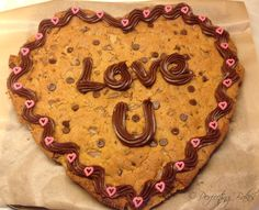 Giant Heart Cookie - Love U