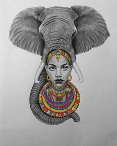 Replace woman with Africa Black Love Art, Black Girl Art, Art Girl, Black Art Painting, Black Artwork, African Queen Tattoo, Afrika Tattoos, Black Art Pictures, Drawn Art