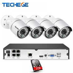 Techege 4CH CCTV System 1080P PoE NVR Metal Outdoor 2.0MP IP Camera System Onvif Cloud 1080 NVR KIT Motion Detect Night Vision  Price: $ 140.99 & FREE Shipping   #rc #security #toys #bargain #coolstuff #headphones #bluetooth #gifts #xmas #happybirthday #fun