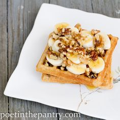 I heart waffles. With bananas & walnuts-- why haven't I thought of this before?!